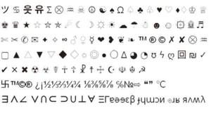 символы для вконтакте