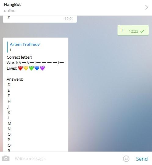 игра отгадай слово в telegram