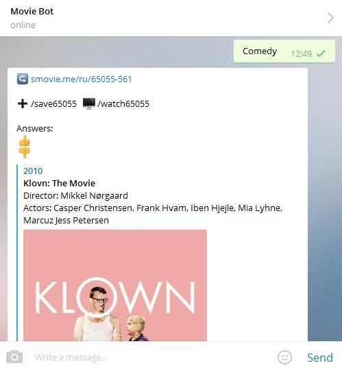подсказки в телеграме на просмотр фильма