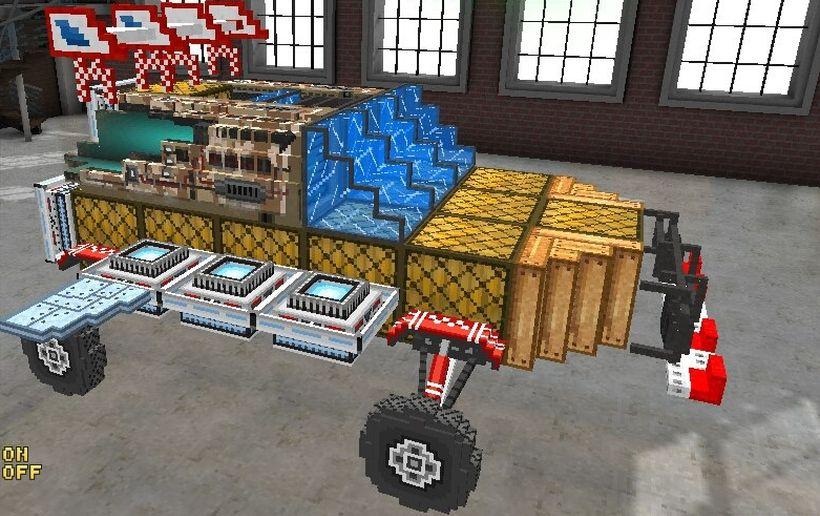 Какую машину можно создать в Blocky Cars