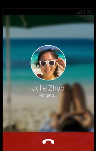 Скрин звонка в мессенджере с Android