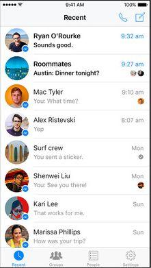 Скрин Messenger для Фейсбука