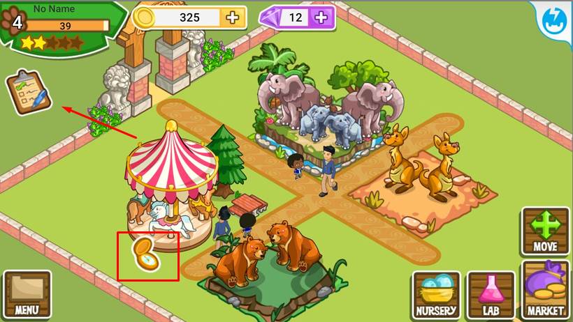 Бонусы и задания в игре Zoo Story