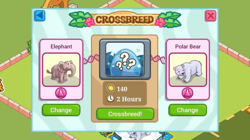 Скрещивание зверей в игре Zoo Story 2