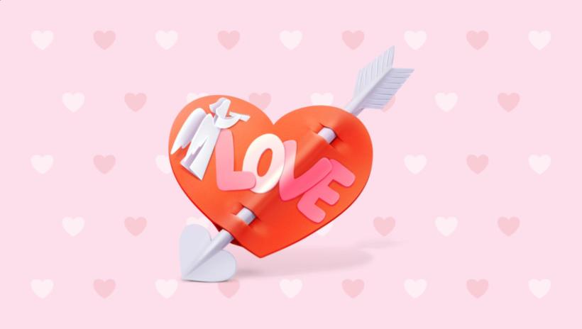 Подарок ВК на день святого Валентина 2017