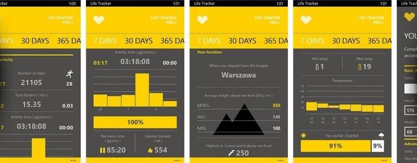 Обзор возможностей LifeTracker на Android