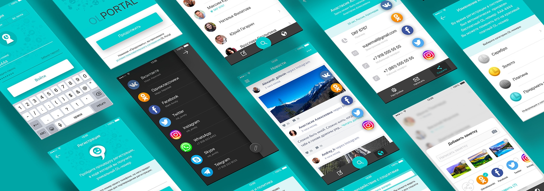 Вход во все социальные сети с одного Android смартфона