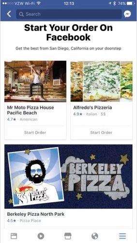 Order Food facebook